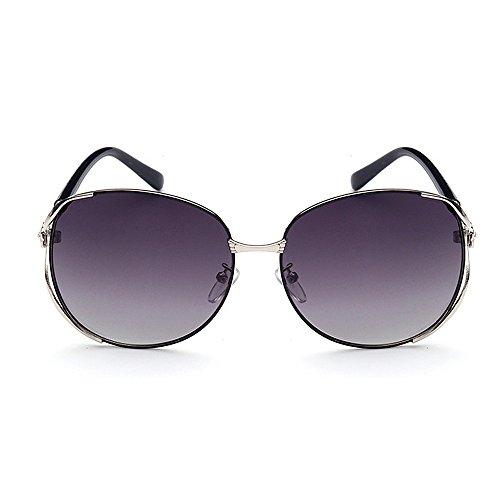 Décoration lunettes élégant pour impression et UV Gris soleil Oversized les Rimme lunettes Eyewear unisexe Lady's polarisées de Style soleil protection femmes protection classique rétro florale métal de en 0xq5vfft