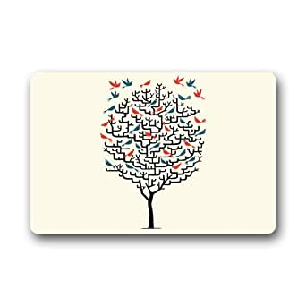 Alta calidad y nuevo Fashion árbol de amor Felpudo