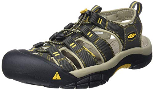 KEEN Men's Newport H2 Sandal, Raven/Aluminum, 12 M US (Mens Rugged Casual Sandal)