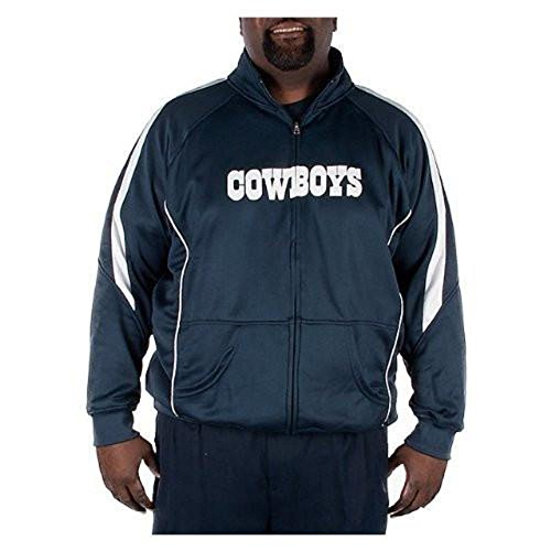Licensed Sports Apparel Dallas Football Cowboys Big and Tall Wick Navy Blue Track Jacket - 7XLT -