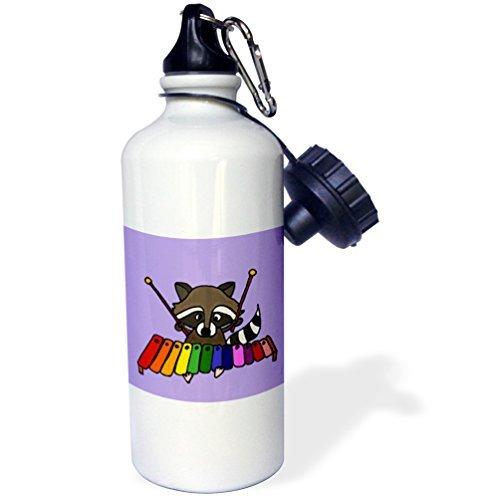 (Fun Raccoon Playing Xylophone Sports Water Bottle Stainless Steel Water Bottle for Women Men Kids)
