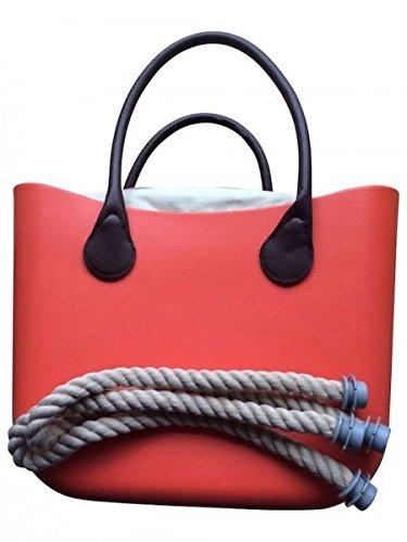 Deininger bags - Bolso de tela para mujer azul navy and khaki Cosmo Orange
