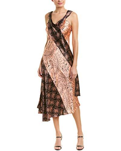 Draped Dress Silk - Diane von Furstenberg Women's Cap Sleeve Bias Draped Dress, Ullman Sherbet/Olson Sherbet, 6