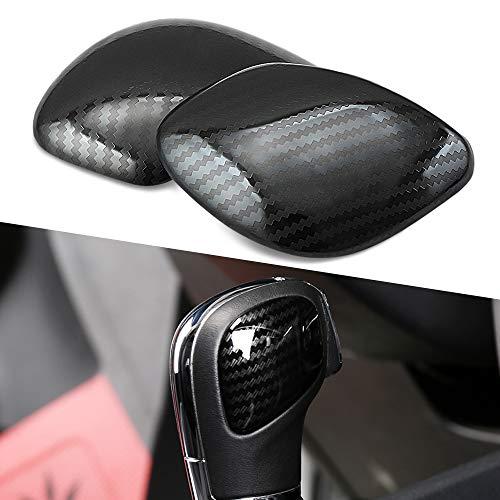 (Thie2e Car Gear Knob Side Decoration Carbon Fiber Stickers Fit for Volkswagen VW Jetta Polo Golf MK4 MK5 MK6 MK7 Passat B5 B6 B7 B8 R)
