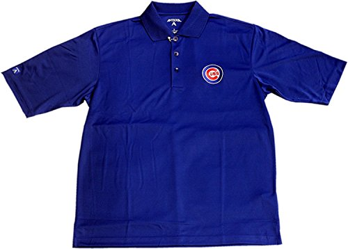 (Antigua Chicago Cubs Polo Exceed Bullseye Logo 12766 (Medium))