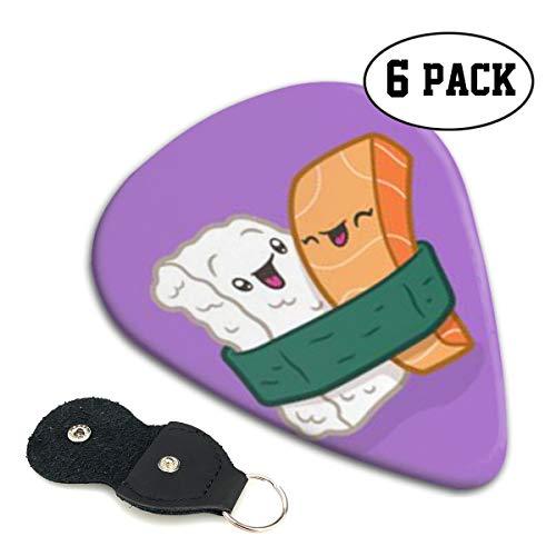 [해외]Xzyauza 스시 셀 룰 로이드 기타 추천 프리미엄 추천 6 팩 GuitarMandolinand 베이스 0.46 mm 0.71 mm 0.96 mm 옵션 PU 가죽 픽 홀더 / Xzyauza Sushi Celluloid Guitar Picks Premium Picks 6 Pack for GuitarMandolinand Bass 0.46mm 0.71mm 0.96m...