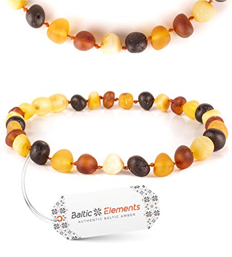 New Amber Teething Bracelet Anklet for Baby Boy and Girl Handmade from Most Efficient Raw Baltic Amber Beads by Baltic Elements