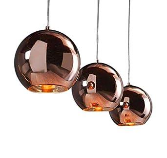 Hangelampe Retro Ball 3 Kugeln Kupfer Amazon De Beleuchtung