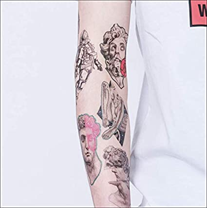 ruofengpuzi Adesivo tatuaggioSimulación Impermeable Pegatinas ...