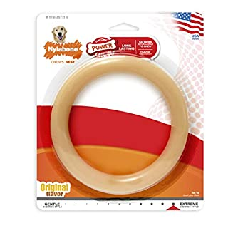 Nylabone Power Chew Extreme Chewing Giant Original Flavored Ring Bone Dog Chew Toy