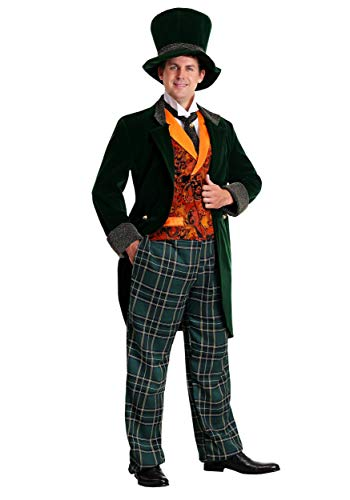 Men's Alice in Wonderland Mad Hatter Costume Deluxe Plus Size Mad Hatter Costume 5X Green]()