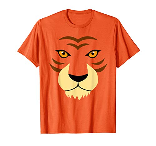 Funny Tiger Face Easy Halloween Costume Boys Kids T-Shirt