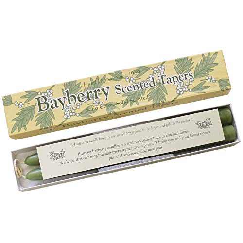 Bayberry Scented Taper Candles, Single Pair Gift Box