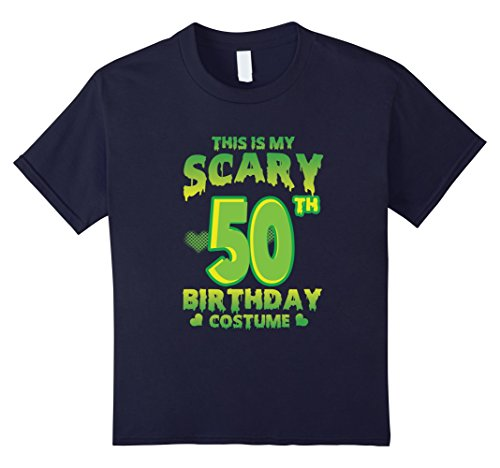 Kids Halloween Costume For 50 Years Old. 50th Birthday Shirt. 12 Navy