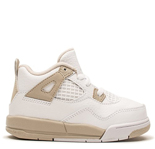 JORDAN TODDLER JORDAN 4 RETRO GT SHOES WHITE BOARDER BLUE LIGHT SAND SIZE 4 by Jordan