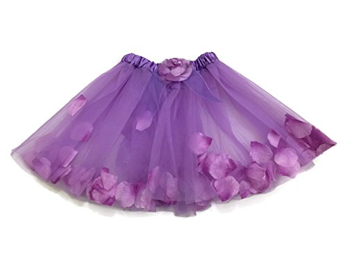 Rush Dance Flowers Petals Ballerina Girls Dress-Up Ballet Costume Recital Tutu (Kids (2-6 Years Old), Lavender)