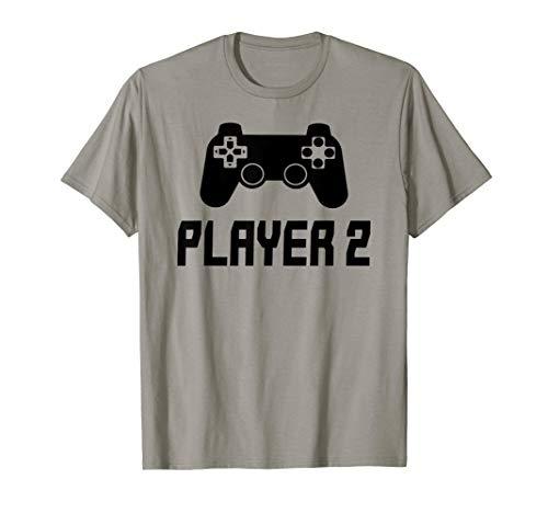 Matching Gamer Couple tee Player 1 Player 2 Shirt