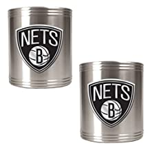 NBA Two Piece Stainless Steel Can Holder Set - Primary Logo