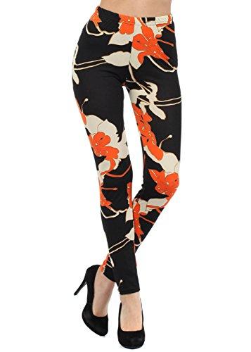 Women's Printed Leggings (Cosmic Floral)