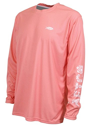 Platinum Sun Long Sleeve Red Gradient Rash Guard for Men UPF