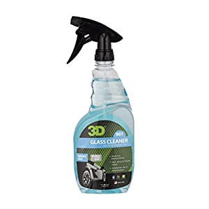 3D Ready Mix Glass Cleaner - 24 oz. | Alcohol Based & Amonia Free | Tint Safe, Streak Free Glass Cleaner | Removes Oil & Smoke Film from Windows | Made in USA | All Natural | No Harmful Chemicals