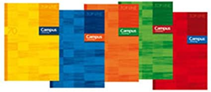 Campus University 001601 - Pack de 10 libretas grapadas, A4 ...
