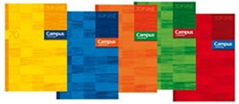 Campus University 001601 - Pack de 10 libretas grapadas, A4: Amazon.es: Oficina y papelería