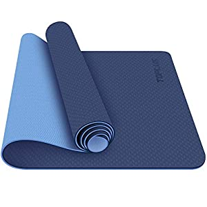 TOPLUS Yoga Mat – Classic 1/4 inch Pro Yoga Mat Eco Friendly Non Slip Fitness Exercise Mat with Carrying Strap-Workout…