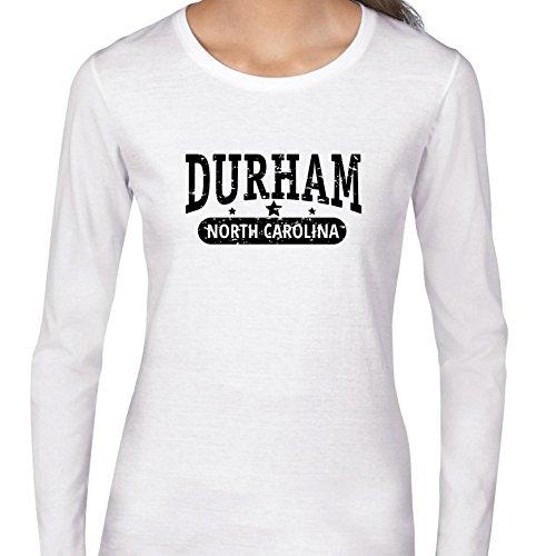 Trendy Durham, North Carolina With Stars Women's Long Sleeve T-Shirt -