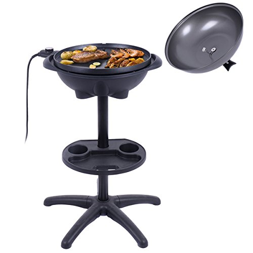 Giantex 1350W Electric BBQ Grill Non-stick w/4 Temperature Setting Outdoor Garden Patio Camping