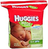 HUGGIES Natural Care Fragrance-Free Wipes 184 ea (Pack of 6)