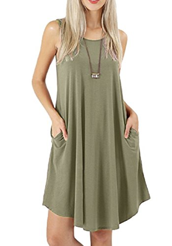 Sleeveless Casual Oversized As7 Women A Dress Mini with Pockets Coolred Line Fw5BWqEq