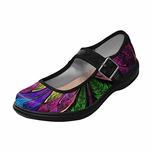 Interestprint Womens Komfort Mary Jane Lägenheter Tillfälliga Promenadskor Multi 8