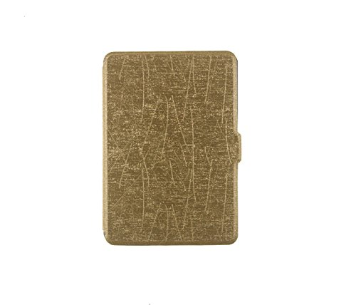 UNIQUE HM&LN Cover Case for Kindle Paperwhite- The Thinnest and Lightest PU Leather Cover with Auto Wake Fits All 2012, 2013, 2015 and 2016 Versions (Golden)