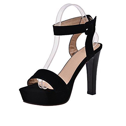 Sandales Adeesu Femme EuSlc01988 Pour Noir35 L54A3Rj