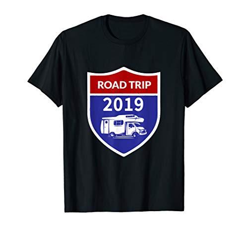 Road Trip 2019 motorhome RV road sign T-shirt
