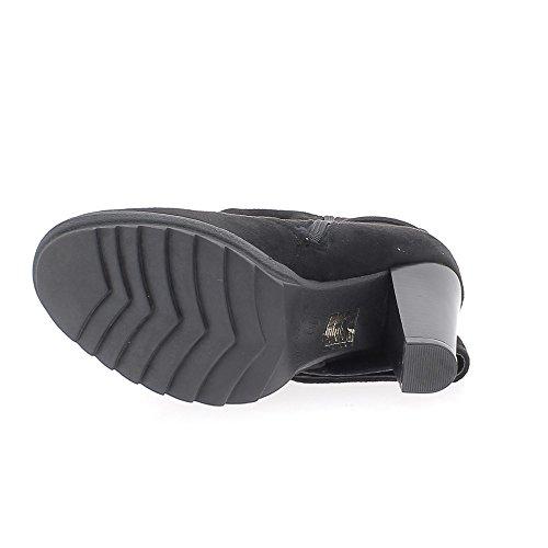 Nero foderato stivali per stabile tacchi 10cm aspetto camoscio