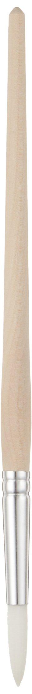 Tanis 00299 Taklon White Artist Brush, 10 Size, 1/4'' Diameter x 15/16'' Trim, 7-1/2'' Overall Length (Pack of 12)
