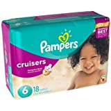 Pampers Cruisers Size 6 Diaper, 18 count per pack - 4 per case.