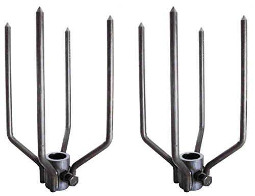- OneGrill Large Animal Fork Set 4 Prong Stainless Steel (Fits 3/4 Inch Hexagon or 7/8 Inch Round)