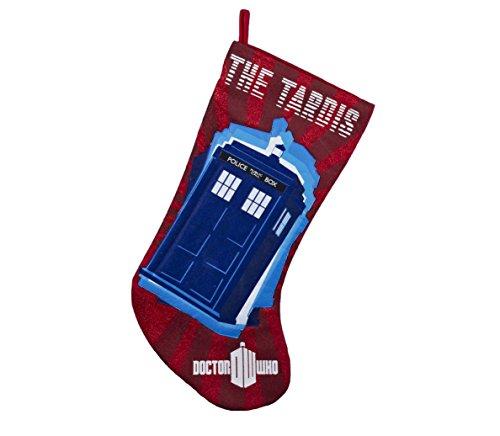 Kurt Adler Red Doctor Who Tardis Applique Stocking, 19-Inch -