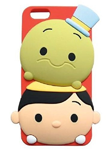 iPhone 5/5S Case, Maxbomi - 3D Cute Cartoon Adventures of Pinocchio and Jiminy Cricket Soft Silicone Rubber Protective Skin Protector Back Cases Cover for iPhone (Pinocchio Nose Growing)