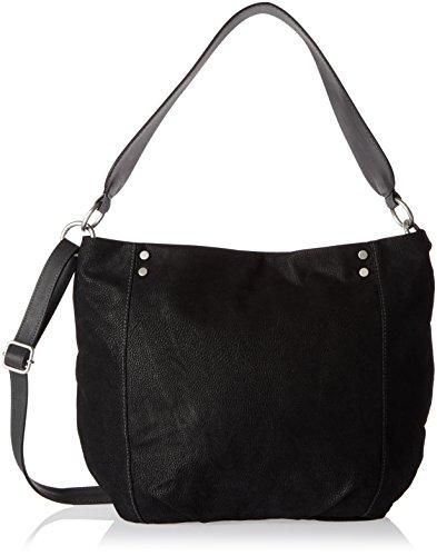 S.oliver (sacs) 39.710.94.6024 - Sacs à dos pour femmes, Schwarz (noir / noir), 10x29x41 cm