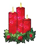 Impact Innovations Christmas Shimmer Lighted Window Decoration, Candles