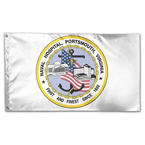 CBMVNC ERUTIHGF Portsmouth Naval Hospital Vinyl Transfer 150cm*90cm Perfect Outdoor Flag 3 * 5