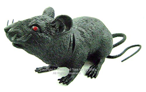 - BLACK RAT 8†Halloween Decor Squeaking Party Decoration Squeaks Red Eyes New I