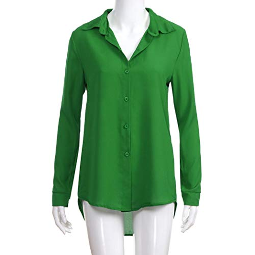 Longues Chemisier Femme Holywin Green Manches Uni BwdBaqpt1