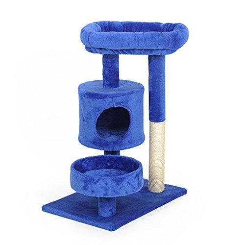 TM26 Cat Climbing Frame Small Sisal Cat Shelf Cat Litter One Grinding Claw Cat Scratching Board Column Cat Toy Cat Frame Cat Platform Cat Tree (Color : 2) (Slat Two Shelves)