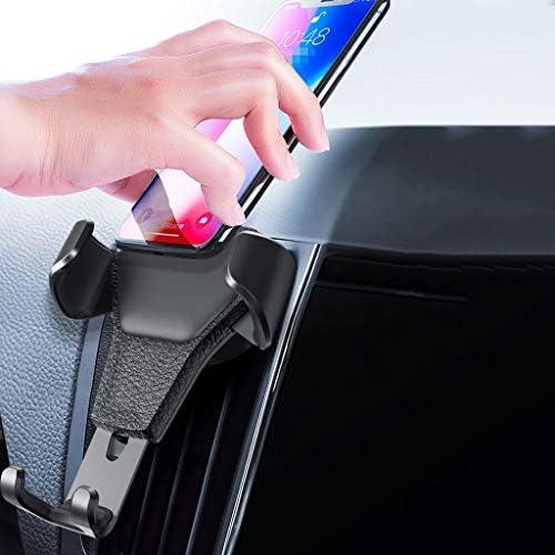 車の電話ホルダー、空気出口ユニバーサル多機能重力サポートナビゲーションフレーム (色 : 白)