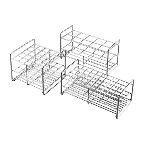 Beta Rack - Stainless Steel Test Tube Rack,12 Holes,Outer Diameter Permitted of Tubes 39-41mm,Wire Constructed, 6x2 Format,Adamas-Beta